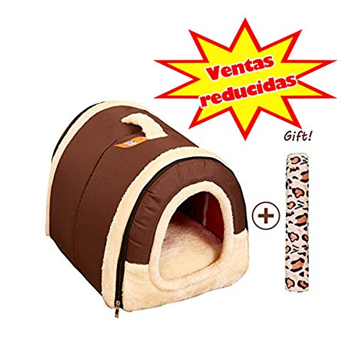 Cama/Caseta Perro Gato Interior 2 en 1, Casa Mascota Grande o Pequeo, Lavable Plegable Porttil,...