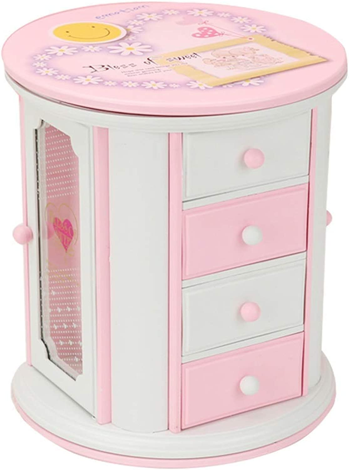 ZHAS Boxes Figures Musical Jewelry Box for Girls Extendable Drawer, storage box for classic jewelry, birthday
