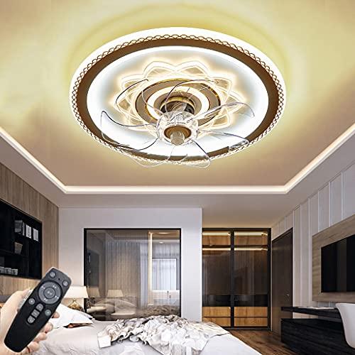 Ventilador De Techo Silencioso Con Luz, Regulable Con Control Remoto Lámpara De Techo Dormitorio LED De Diseño Ultra Delgado Lámpara De Ventilador Para Sala De Niños Lámpara De Ventilador De Comedor