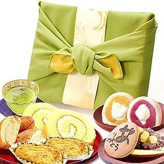 お祝いギフト 人気商品 おいもや どら焼き お菓子 食べ物 誕生日プレゼント ギフトセット 内祝い(みどり色風呂敷包)