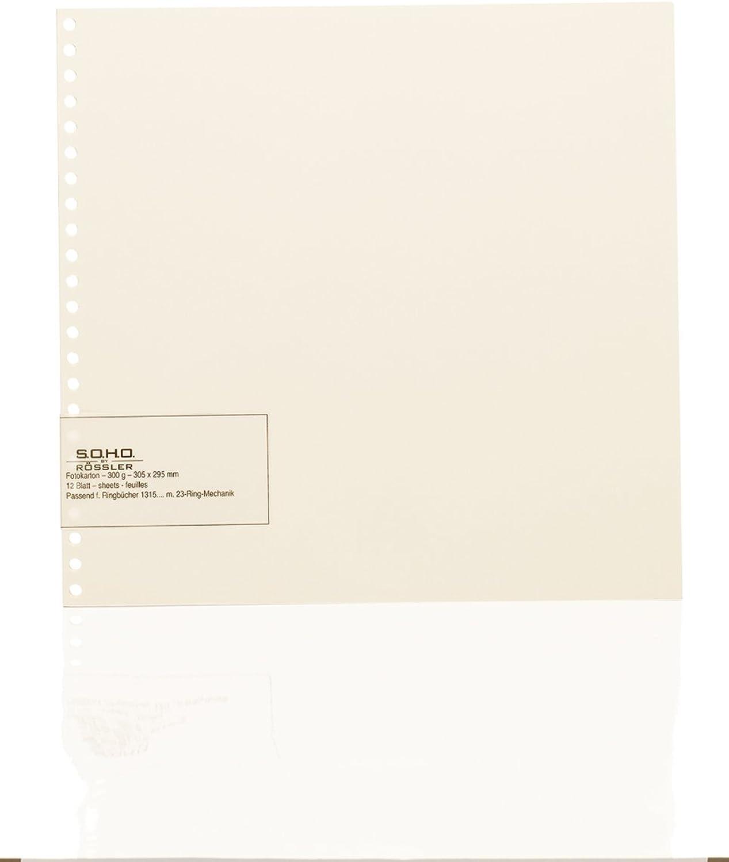 Rössler Papier - - Fotokarton Chamois f. 23-Ring-Mechanik - Liefermenge  5 Stück B07CX3RPMC | Clever und praktisch