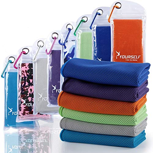 SYOURSELF Cooling Towel, Cooling Towels for Neck,40 x 12Ice Towel for Instant Cooling Relief, Soft Breathable Chilly Towel, Perfect Yoga, Golf, Sports, Gym, Workout, Athletes Towel
