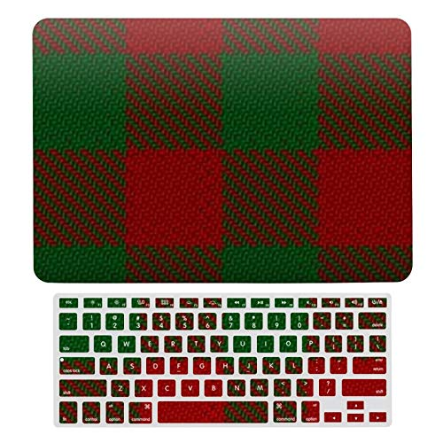 Funda rígida para MacBook Air 13 de 13 pulgadas A1466, A1369 para MacBook Air 13 y cubierta de teclado, Clan Moncreiffe Moncrief Red and Green Tartan Laptop Shell Set de carcasa protectora