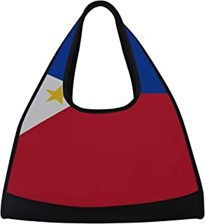 JGYJF Vector Philippines Flag Philippines Flag Illustration Custom Tennis Racquet Bag Fitness Bag Sports Tote Bag for Boys with Pockets Tote Tennis Bag Racquet Shoulder Bag for Sport Travel Shoppi