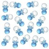 Robelli Baby Dusche Party Dekoration Anhänger / Geschenk - Verschiedene Deigns - 18 x Blau Mini Schnuller