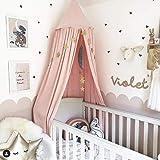 Jefshon Babybett Mädchenzimmer Baldachin Betthimmel, Moskitonetz Spielzelte Perfekt Dekoration für Kinder Prinzessin Mädchen Schlafzimmer oder Babyzimmer (Rosa)