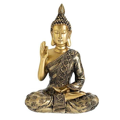 YINASI Meditating Blessing Buddha Statue, Buddism Buddha Maitreya Fengshui Statue Sculpture Handmade Figurine Home Living Room Bedroom Temple Desktop Office Decor