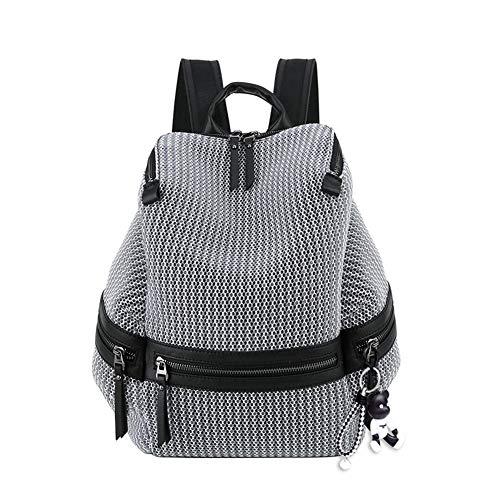 BUKESIYI Damen Tasche Rucksack Handtasche Frauen backpack Klein Anti Diebstahl Schulrucksack Laptop Weekender PU Leder CCDE78110 Grau