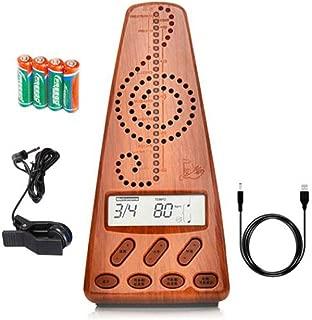 Jingfengtongxun Metronome, Electronic Metronome, Universal Guitar Piano Guzheng Violin Erhu Drum Adjustable Rhythm (ivory White, Battery, Pickup, 2 M USB Power Cord), large screen display