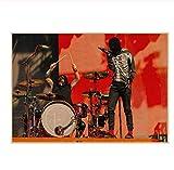 Twenty One Pilots Poster Vintage Retro Rock Band Música Guitarra Matte Antique Kraft Paper Poster 30 * 42Cm Sin Marco