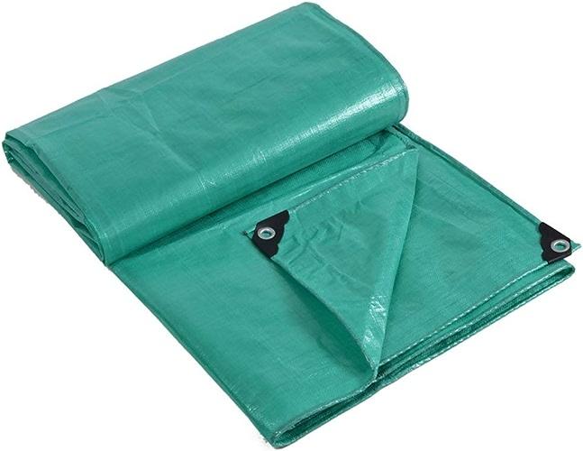 JINSH Tissu imperméable imperméable à l'eau de bache de Prougeection Solaire de bache de Prougeection de Camion de bache de Prougeection Contre Le Vent antipoussière Coupe-Vent, Vert