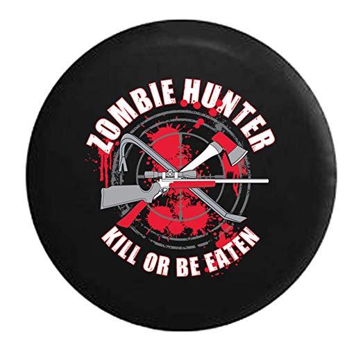 Zombie Hun-ter Ki-ll o Be Eaten Rifle Mr.Axe Blood, protector solar impermeable, cubierta ajustable para llantas, adecuada para vehículos todoterreno, remolques, cubiertas para llantas de 16 pulgadas