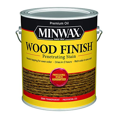 Minwax 71002000 Wood Finish Penetrating Stain, gallon, Provincial