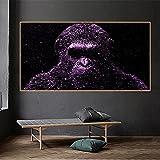 Cuadro decorativo de pared, imágenes de pared de gorila de gran tamaño para sala de estar, póster, impresión, Cuadros, imágenes de mono 35x70 CM (sin marco)