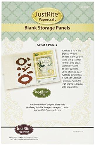 Justrite 8,5 x 14 cm mini opslag in papieren knutselplaten, 4 stuks
