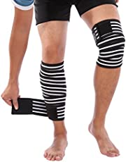 Doact Elastische Sport Kniebandage 2 Stück Bietet Optimalen Schutz für Meniskus Und Knie für Damen und Herren wirkt schmerzlindernd bei schützt beim Laufen und Joggen