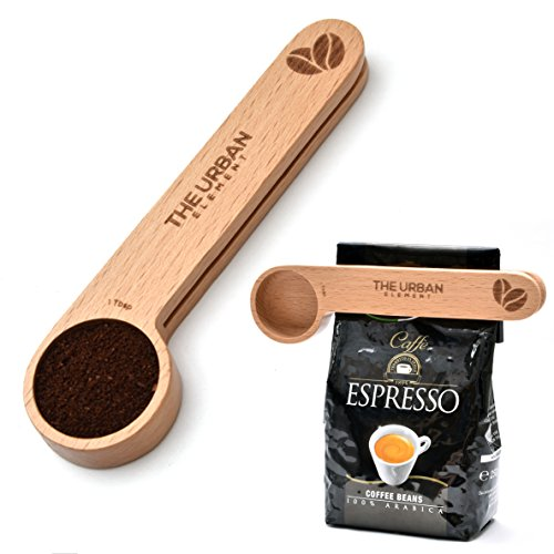2 in 1 Wooden Coffee Scoop and B...
