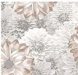 HomeLife Piumone Matrimoniale Invernale Fantasia Floreale Beige 250X250 | Piumone Letto Autunno/Inverno Double Face | Trapunta Matrimoniale Calda Anallergica | Piumino Microfibra Colorato | Beige, 2P