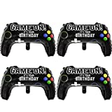 4 Packs Video Game Party Balloons, 23.6 x 15.7 Inch Game on Balloons Video Game Controller Aluminum Foil Balloon for Birthday Party and Game Party Decoration