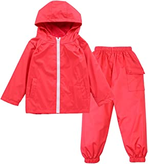 Size:S-XL Kids Star Hooded Rain Poncho Jacket Waterproof Raincoat with Relaxing Carrying Bag Boys and Girls 99native@ Hooded Raincoat for Kids Boys Girls