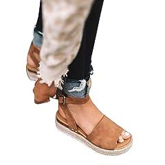 4ec996b2ff2 FISACE Womens Espadrilles Cut Out Slingback Peep Toe Platform .