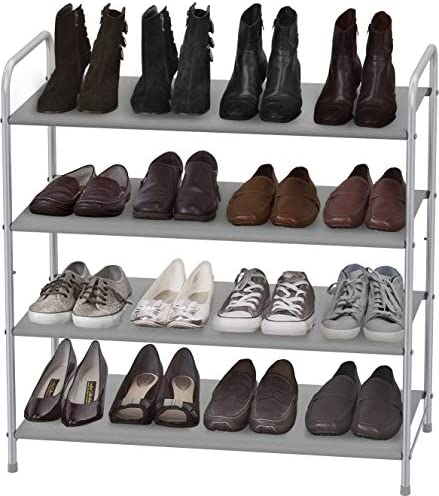 Simple Houseware 4 Tier Shoe Rack Storage Organizer 20 Pair Grey product image