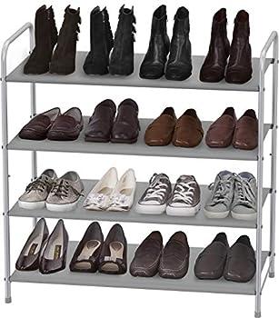 Simple Houseware 4-Tier Shoe Rack Storage Organizer 20-Pair Grey