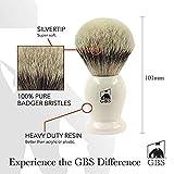 """Best GBS Badger Shaving Brushes - GBS 100% Silvertip Badger Hair 4.5"""" Tall Shaving Review"""