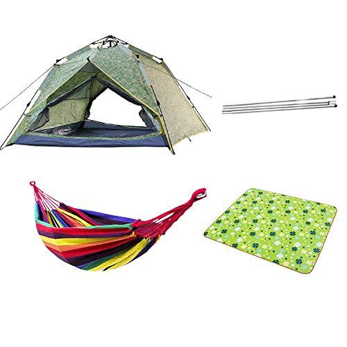 ChangDe - Zelt Camping Zelte, Vollautomatische Doppelschicht-Dual-Use-3-4 Person Verdickung Sonnenschutz und regensicher Campingausrüstung (5 Arten von Anzügen) (Color : D)