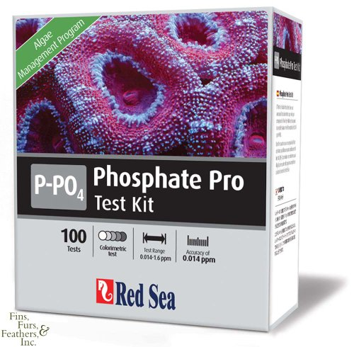Red Sea Fish Pharm ARE21425 Saltwater Phosphate Pro Test Kit for Aquarium, 100 Tests
