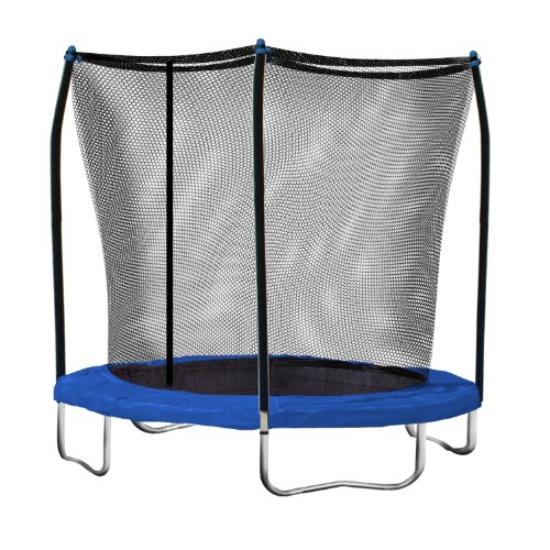 Skywalker Trampolines 8 Ft. Round Trampoline and Enclosure with Blue Spring Pad