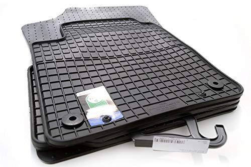 kh Teile Gummimatten passend für e-Up (4-teilig) Vollgummi Geruchsneutral Allwetter Gummi Fußmatten Schwarz 4-teilig