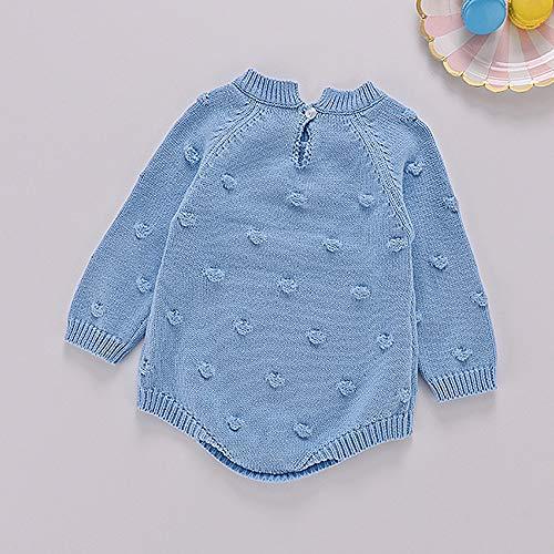 VICKY-HOHO Günstige Kinderkleidung Sommer, 0-3 Monate Kleinkind Neugeborenes Baby Mädchen Strick Strampler Bodysuit Häkeln Kleidung Outfits Unisex Chic Saint Patrick's Geschenk (Blau)