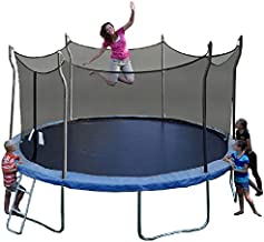 Propel Trampolines P14D-BE Trampoline with Enclosure, 14' Round, Blue