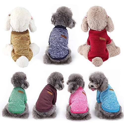 H87yC4ra - Jersey de punto de lana para perros y gatos, abrigo cálido para invierno para mascotas, accesorios para vestir a las mascotas, también apto como pijama
