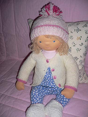 Puppe Waldorf Art / handgefertigte Babypuppe/Stoffpuppe/Puppe nach Art der Waldorfpuppe, aus natürlichen Materialien