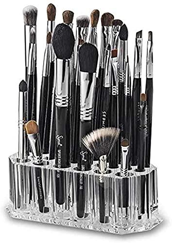 Guuisad Organizador de cosméticos acrílicos 26 Grid Maquillaje Caja de almacenamiento Caja de almacenamiento Caja de lápiz de lápiz transparente Soporte de Pantalla Pantalla de pluma Tabletop Almacena