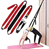 Xemz Back Bend Assist Trainer - Improve Back and Waist Flexibility, Door Flexibility Stretching Strap, Home Equipment for Ballet, Dance, Yoga, Gymnastics, Cheerleading, Splits (red)
