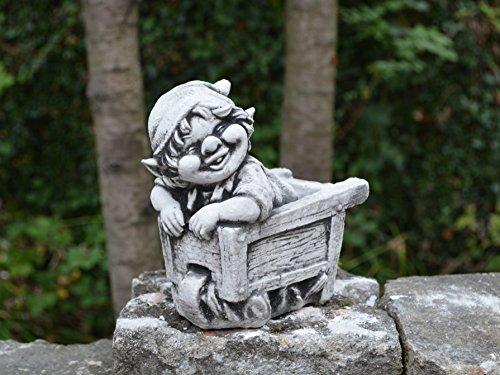 Sonderangebot: Stück 5 lustige kleine Gnome Trolle Wichtel aus Steinguss frostfest - 6