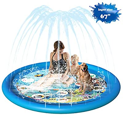 Splash Pad for Toddlers Outdoor Inflatable Sprinkler Water Toys