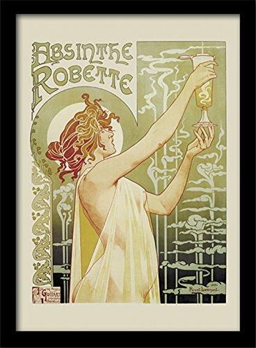 Pyramid International Gerahmter Kunstdruck, mit Motiv von Absinthe Poster Robette + Zusatzartikel