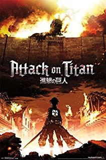 Attack on Titan Fire Wall Poster Frameless Gift 12 x 18 inch(30cm x 46cm)-S-183