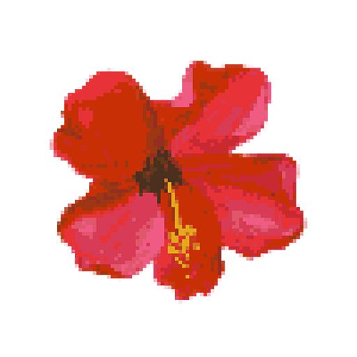 Flower Color By Number: Fleur Pixel Art