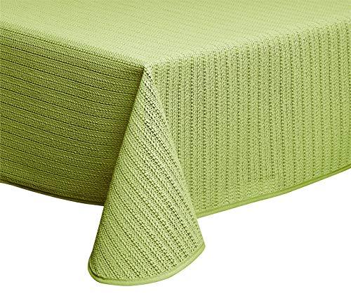 Schwar Textilien Gartentischdecke Outdoor Tischdecke aus Weichschaummaterial rutschfest wetterfest in 4 Farben und Zwei Größen (130x180 cm eckig, Grün)