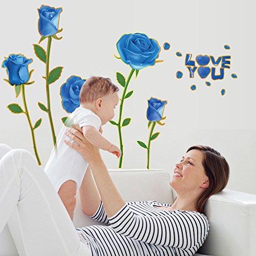 Mural ZOZOSO Rosa Dormitorio Pegatinas De Pared Azul Encantador Puro Amor Cálido...