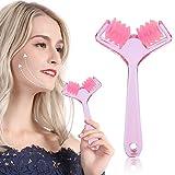Rullo massaggiante 3D per il viso, massaggiatore a forma di V per tonificare il viso, rassodante, anti cellulite, rassodante per la pelle