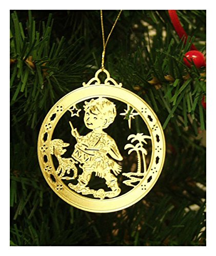 Price comparison product image Personalized Little Drummer Boy High Polished Brass Christmas Ornament Custom