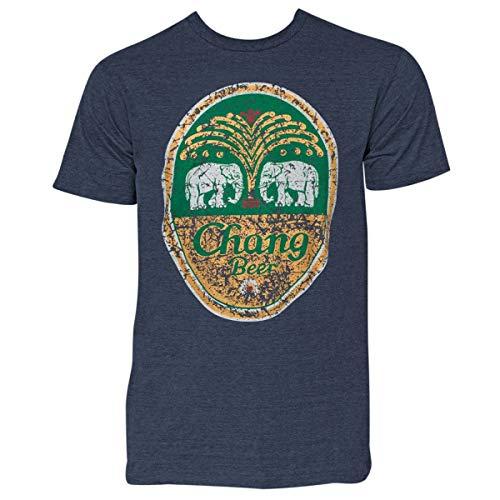 Chang Camiseta jeans envelhecida, Azul, L