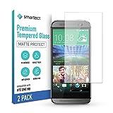 smartect Mattes Schutzglas kompatibel mit HTC One M8 / M8s [2x MATT] - Tempered Glass mit 9H Festigkeit - Blasenfreie Schutzfolie - Anti-Kratzer Bildschirmschutzfolie