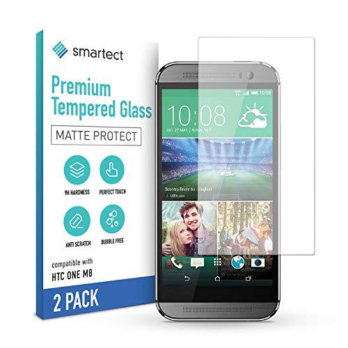 smartect Cristal Templado para Móvil HTC One M8 / M8s [2x MATE] - Protector de pantalla 9H - Diseño ultrafino - Instalación sin burbujas - Anti-huella